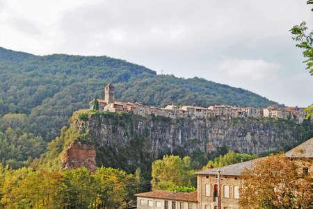 roca: Overview of the Castellfollit de la Roca Stock Photo