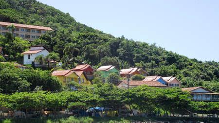 gabled: Gabled houses Floripa Brazil Stock Photo