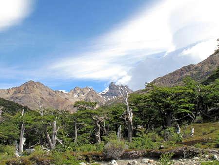 chalten: View of National Park of Chalten Argentina Stock Photo