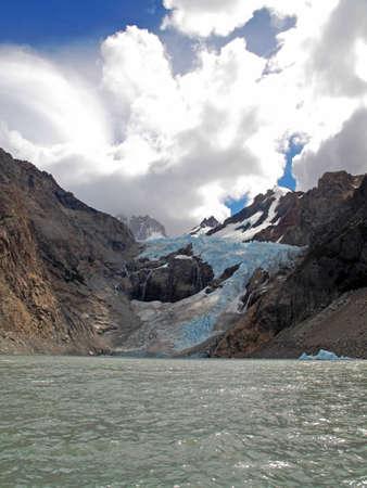 chalten: Cloudy sky on Chalten Argentina