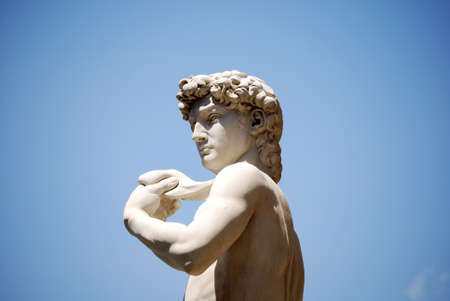 david: Detail of the copy of Michelangelo s David
