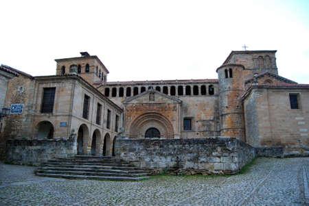 juliana: Collegiate Church of Santa Juliana, Santillana del Mar, Cantabria, Spain Stock Photo