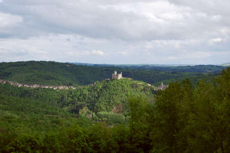 midi: Castle on the hill of Najac France