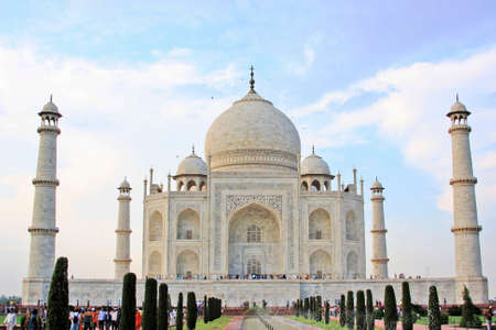 Front view of the Taj Mahal India