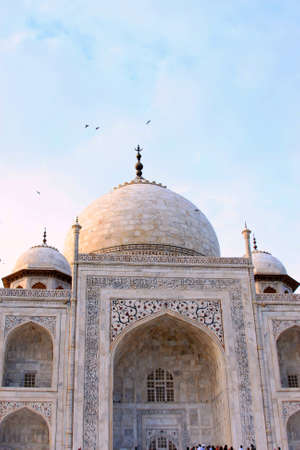 mughal: Partial view of the Taj Mahal