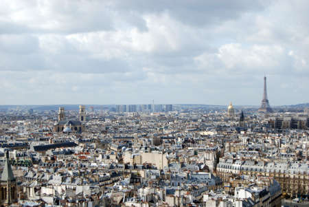 The rooftops of Paris from Notre Dame Cathedral photo