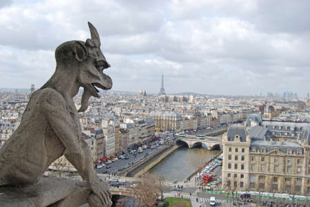 gargoyle: The rooftops of Paris, Notre Dame Cathedral