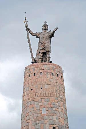 cuzco: Statue of Pachacutec Inca Cuzco Peru