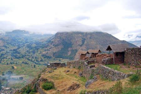 archaeological complex: Archaeological complex of Pisac  Sacred Valley  Peru  Stock Photo