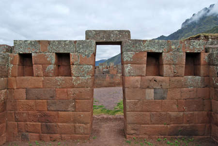 archaeological: Archaeological complex of Pisac  Peru  Stock Photo