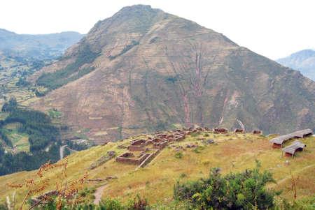 archaeological complex: Archaeological complex of Pisac  Peru  Stock Photo