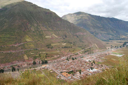 pisac: Overview Pisac  Peru Stock Photo