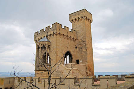 espanya: Tower of Olite Royal Palace  Navarre