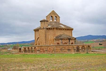 espanya: Santa Maria de Eunate Church  Navarre