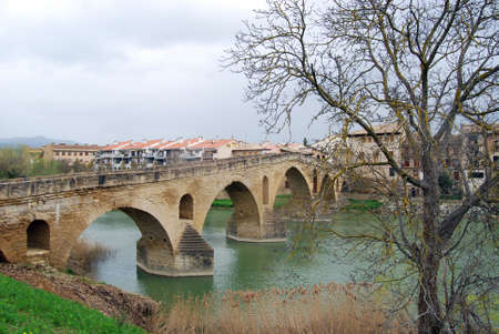 Overview of Puente de la Reina  Navarre  Stock Photo - 16587037