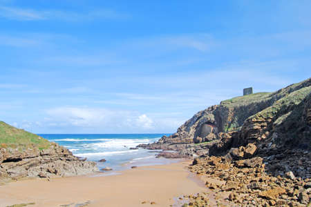justa: hermitage of Santa Justa  Santillana del Mar  Cantabria Stock Photo