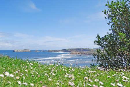 espanya: Locos beach  Suances  Cantabria Stock Photo