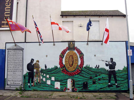 Murals in Belfast. Ulster. Northern Ireland Stock Photo - 17298226