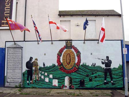 Murals in Belfast. Ulster. Northern Ireland Stock Photo - 17298226
