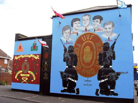 Murals in Belfast. Ulster. Northern Ireland Stock Photo - 17298225
