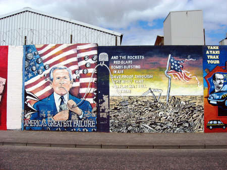 Murals in Belfast. Ulster. Northern Ireland Stock Photo - 17298228