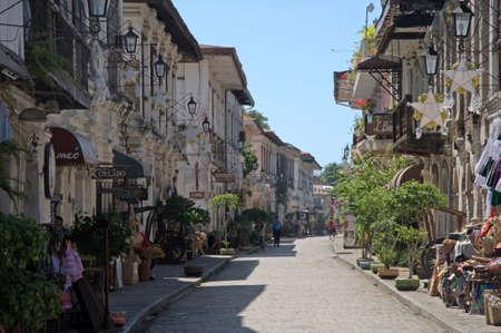 colonisation: Strada coloniale in Vigan Ilocos Sur Filippine