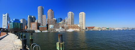 Boston Harbor panorama Stock Photo - 3598895
