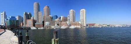 boston skyline: Boston Skyline panorama