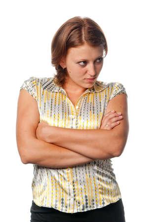 uptight: Mistrustful girl