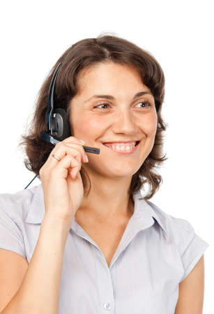 Smiling pretty girl with headset Stock Photo - 7473545