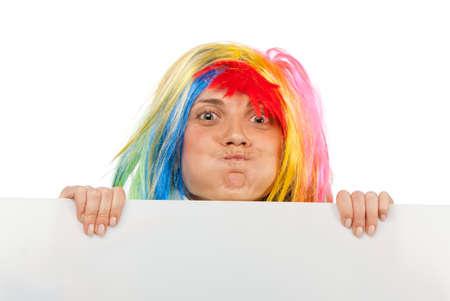 oddity: Funny clown with blank board