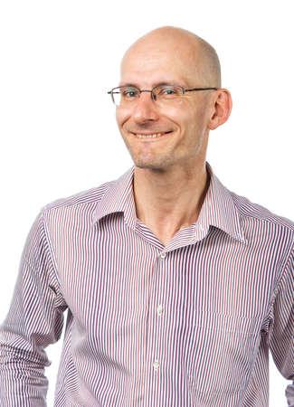 firmeza: Hombre reconoc�rsele sonriente  Foto de archivo