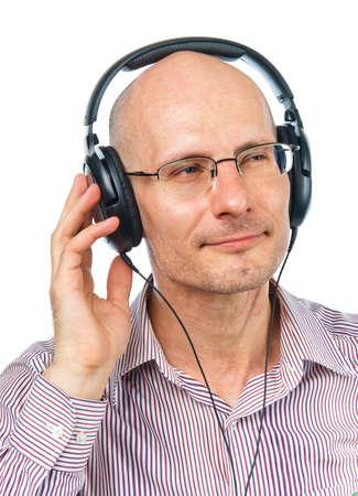 firmness: Auriculares de reconoc�rsele hombre disfruta de m�sica