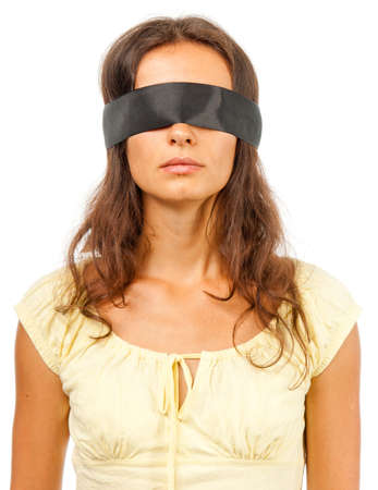 Girl with a blindfold photo