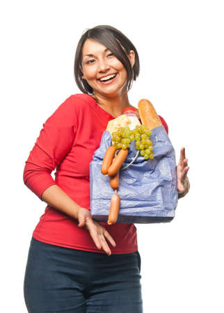Pretty girl with a shopping bag Stock Photo - 7761107