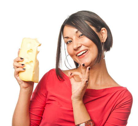 all right: Pretty girl with a big piece of cheese