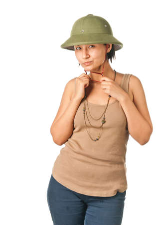 pith: Pretty girl in a pith helmet