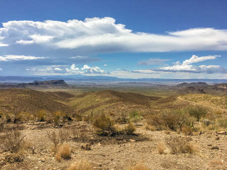 Sotol Vista Overlook in Big Bend National Park 스톡 콘텐츠