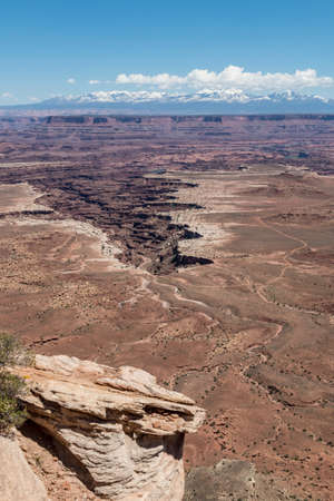 Portrait Elevated View of Canyonlands Ledge