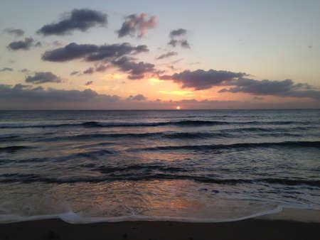 Nice sunset in Atlantic Ocean, in South of Spain. 版權商用圖片