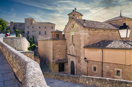 Entrance to the Carmelite convent in Cuenca, Castilla la Mancha. XVII century