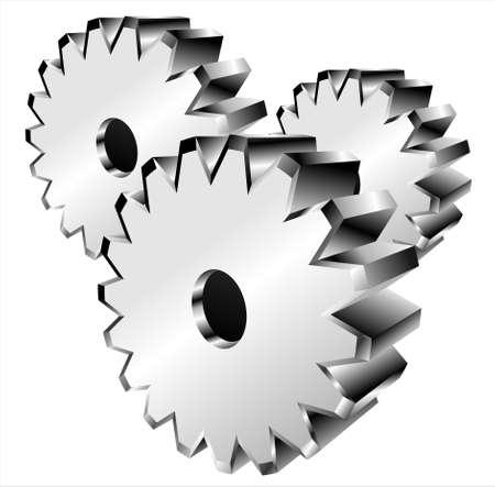 VECTOR 3D gear Stock Vector - 3681559