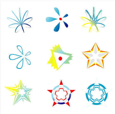 VECTOR Company logos indentification images symbols set Illustration