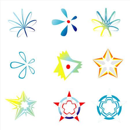 loghi aziendali: VECTOR il logo della societ� indentification immagini simboli impostare Vettoriali