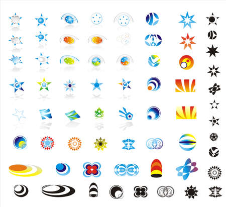 90 More corporate logo design elements Vector