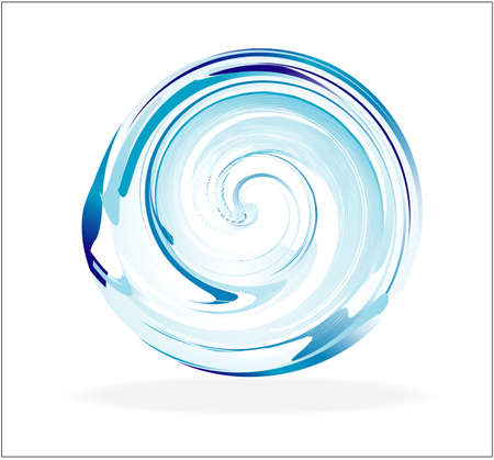 blue sphere: An Abstract Glass Spiral Sphere