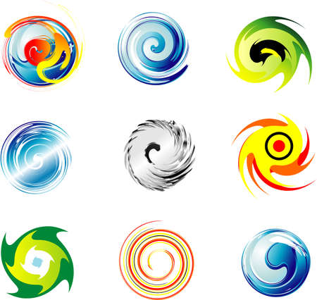 red sphere: Collection of Corporate Logo design elements Illustration