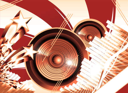 Us flag theme Big speaker equalizer sound background photo