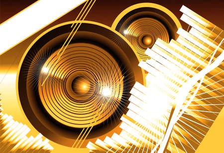 Big speaker equalizer sound background Stock Photo - 4774457