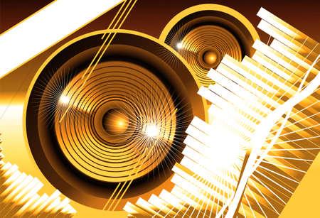 Big speaker equalizer sound background Stock Photo